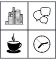 Set Icons Office Work and Business Life vector image vector image