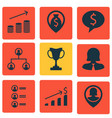 set of 9 human resources icons includes tree vector image