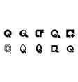 set of letter q logo vector image