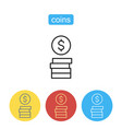 stack of coins icon vector image vector image