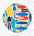 stand up paddle boards and paddles set w vector image vector image