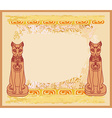 Stylized Egyptian cats vector image vector image