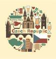 symbols czech republic vector image vector image