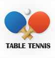 table tennis background vector image