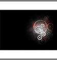 technological abstract red light interface gears vector image vector image