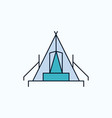 tent camping camp campsite outdoor flat icon vector image