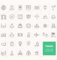Travel Outline Icons for web and mobile apps vector image vector image