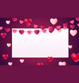 valentines day love background template with vector image vector image