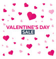 valentines day sale background with hearts vector image