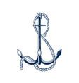 vessel anchor armature vector image