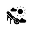 weather climate black icon sign on vector image