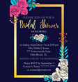 wedding card invitation vector image