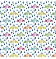 Rain drops and umbrella seamless pattern Hand vector image