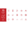 15 eps icons vector image vector image