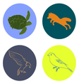 animals signs vector image vector image