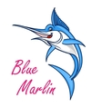 Atlantic blue marlin symbol for mascot design vector image vector image