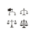 attorney law graphic design template isolated vector image vector image