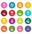 balcony window forms icons set colorful circles vector image vector image