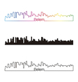 Belem skyline linear style with rainbow vector image vector image