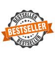 bestseller stamp sign seal vector image vector image