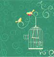 birds cage vector image