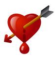 bleeding heart icon vector image vector image