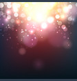 blurred bokeh light on dark background vector image