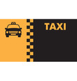 Business card for taxi drivers vector image