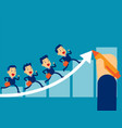 business team up toward target concept business vector image vector image