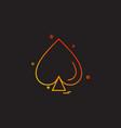 card spade icon design vector image