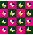 Card Suit Chess Board Pink Green vector image