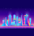 cartoon purple future modern cityscape with town