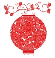 Chinese Lantern on tree vector image vector image