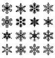 christmas snowflakes set vector image vector image