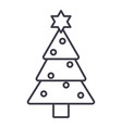 christmas tree line icon sign vector image vector image