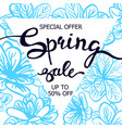 colorful floral poster spring sale vector image vector image