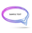 Colorful Hand Drawn Speech Bubbles vector image