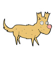 comic cartoon cute little dog vector image vector image