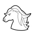 cute little unicorn cartoon vector image
