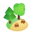 Deforestation icon isometric 3d style vector image vector image