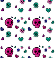 emo style seamless pattern-2 vector image vector image
