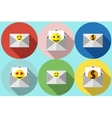 envelope with smiley flat vector image