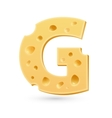 G cheese letter Symbol isolated on white vector image
