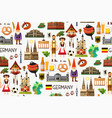 germany travel map vector image vector image