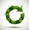 Green reload geometric icon made in 3d modern vector image