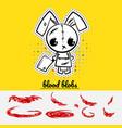 halloween evil bunny rabbit vector image vector image