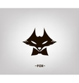 image an fox head on white background vector image vector image