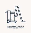 industrial vacuum cleaner flat line icon logo vector image