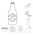 isolated object tomat and diet logo collection vector image vector image