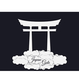 Japan gate isolated on black background torii gate vector image vector image